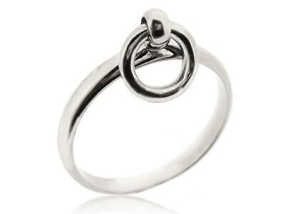 925 Sterling Silver Circle Round Band Thumb Finger Rings For Women Size 5-12
