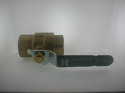 "Hammond 1-1/4"" Pipe NPT Brass Ball Valve 600 WOG 1 1/4"" Water Oil Gas"