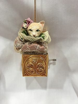 Katherine's Collection Cat in-the-Box Christmas Ornament-Retired