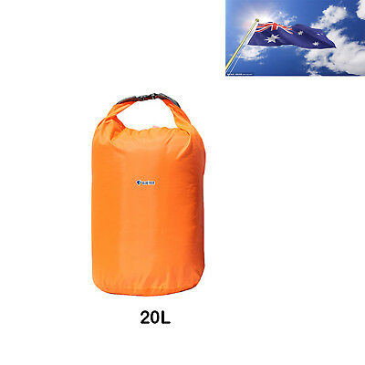 AU 20L Waterproof Storage Dry Carry Bag Sack Backpack Pouch Boat Camping
