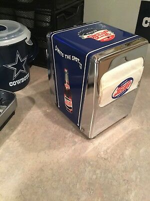 PEPSI Metal Napkin holder with vintage Pepsi paper napkins