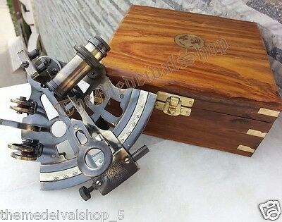 Antique Style Solid Brass Nautical Marine Sextant Vintage Gift Astrolabe Sextant