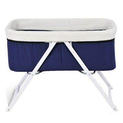 Multifunctional Crib Portable Aluminum Alloy Baby Bed Folding Infant Cradle