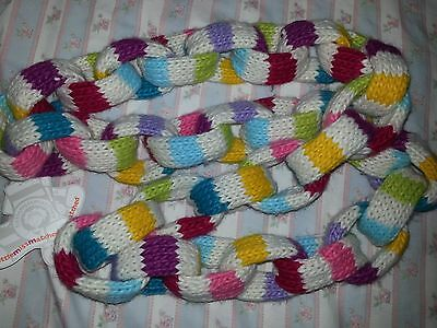 NWT girls Little Miss Matched rainbow chain link infinity Scarf NEW retail $49
