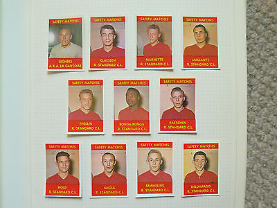 FOOTBALL TEAM LA GANTOISE 11 MATCH BOX LABELS c1960 NORMAL SIZE MADE in BELGIUM