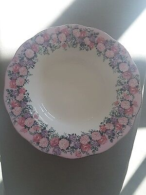 Royal Albert Rose Garland rimmed soup bowl.. made in England
