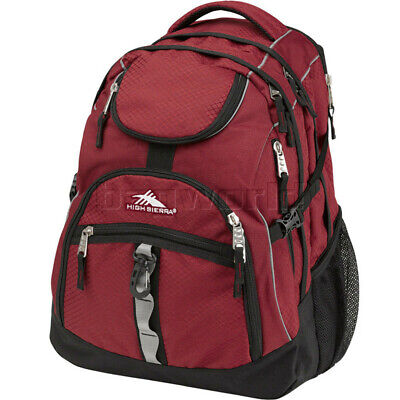 "High Sierra Access 17"" Laptop Backpack Brick Red 25539"