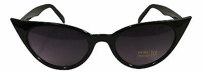 Cat Eye Sunglasses Brown Tortiseshell Black PinUp 50s Rockabilly Wing Frenchie