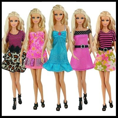 Barbie Doll Clothes - Set of 5 Elegant Dresses  - SOLD AS A SET - AUSSIE SELLER