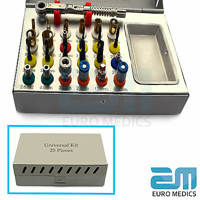25Pieces Euro Medics Basic Dental Implant Kit Surgical Sterile Implant Tools CE