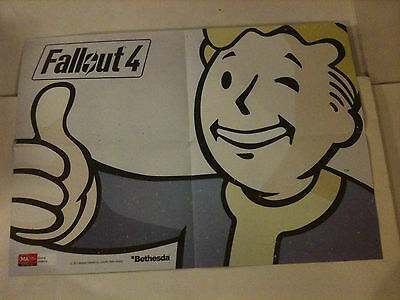 """'FALLOUT 4' 2015 Bethesda 2 Sided Poster 21"""" x 15"""""""