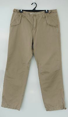COUNTRY ROAD Mens Cargo Linen Cotton Khaki Chinos Hiking Cargo Pants Size 36