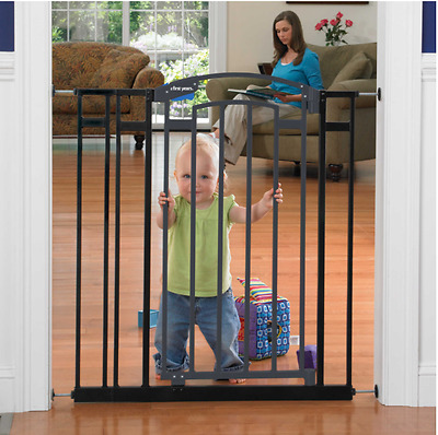 The First Years Extra Tall Home Decor Black Child baby Safety Gate/ Pet Barrier