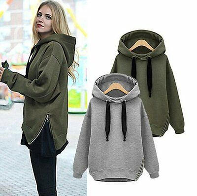 Women's Hoodie Pullover Jacket Jumper Sweater Tops Fleece Jacket Coat Outwear