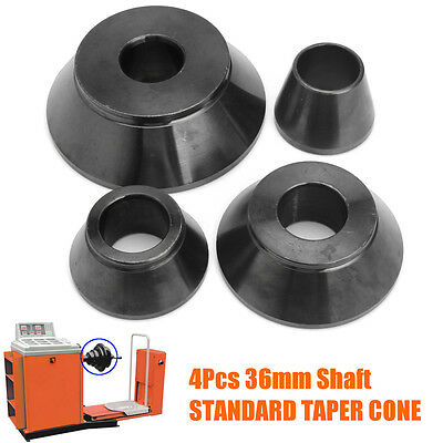 4pcs Universal Wheel Balancer Taper Cone Set 36mm Shaft Carbon Steel for Corghi