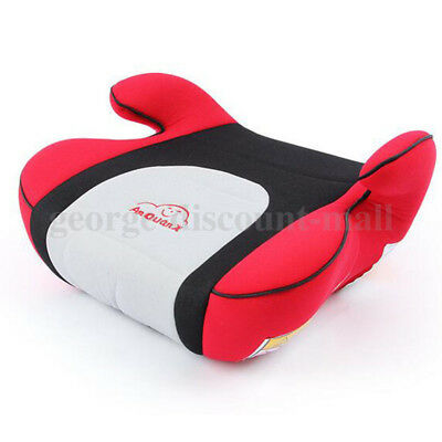 Red Baby Car Booster Seat Kids Safety Travel Auto Thicken Cushion Pad Protector