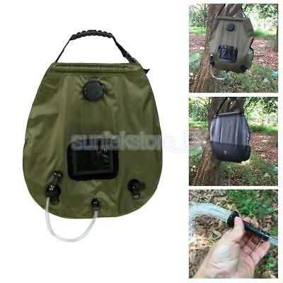 20L / 5 Gallons Solar Energy Heated Water Bag Outdoor Camping Hiking Showers