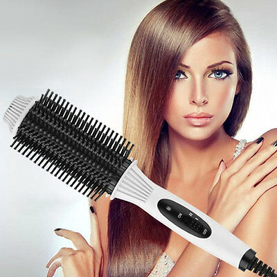 Women 2 in 1 Electric Hair Straightener Curler Combo Auto Comb Brush
