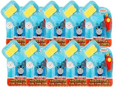 10 X Thomas & Friends Magic Face Cloth & Tub Time Tints With Whistle Party Gift