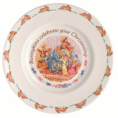 Bunnykins by Royal Doulton - Christening Collection Plate 20cm
