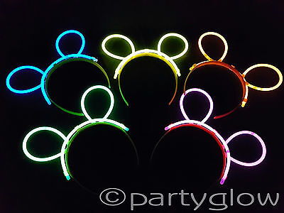 50 x Sets Glow Stick Bunny Ears Complete Sets Raves Parties Festivals