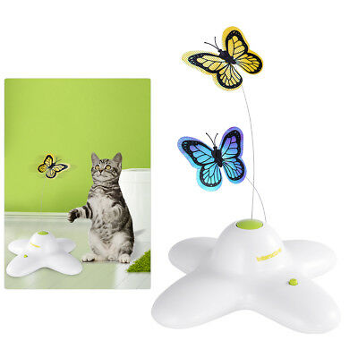 Jouet Chat Électrique Papillon Rotation Jeu Animal Chat Chaton