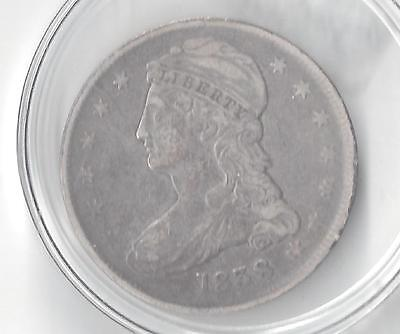 1838 Capped Bust Half Dollar-VF 30-PCGS certified-Reeded Edge