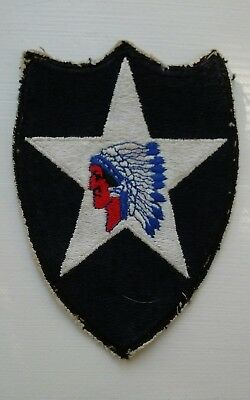 Vintage WWII US Army 2nd Infantry Division Indian Head Patch