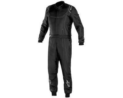 Alpinestars KMX 9 Kart Suit Black / Silver / White - 40 UK KART STORE