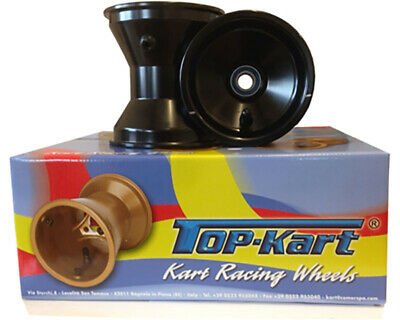 Zip Lightning / Synergy / Top Kart Black Cadet Slick Wheel Set UK KART STORE
