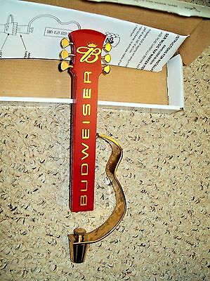 "Budweiser Bud Music Guitar Metal/Plastic Figural Beer Tap Handle 10.5"" NOS Mint"