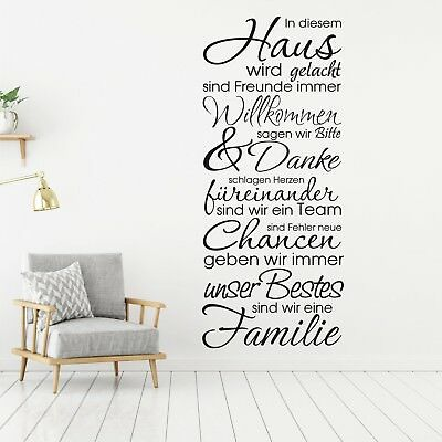 wandtattoo wandsticker wandaufkleber flur wohnzimmer. Black Bedroom Furniture Sets. Home Design Ideas