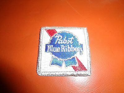 PABST BLUE RIBBON BEER PATCH 2 x 2 inches VINTAGE COOL!! PBR