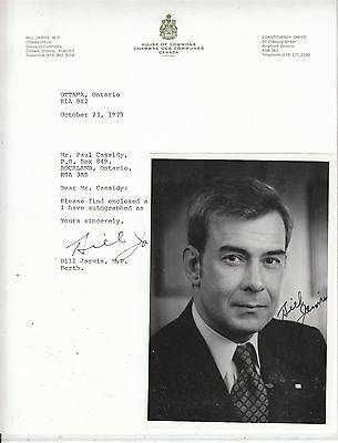 BILL JARVIS(Canada House of Commons) SIGNED Photo & SIGNED 1979 letter