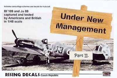 1/48 RISING DECALS 48016; Under New Management Part II; Bf 109, Ju 88