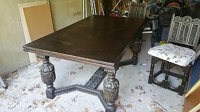 Antique expandable  table and chairs
