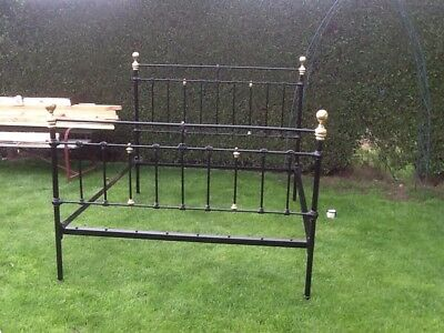 Victorian Cast Iron King Size Bed Frame