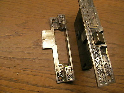 1 Rare Old Norwalk Mortise Lock..brass ? Bronze ??strike Plate And Faceplate