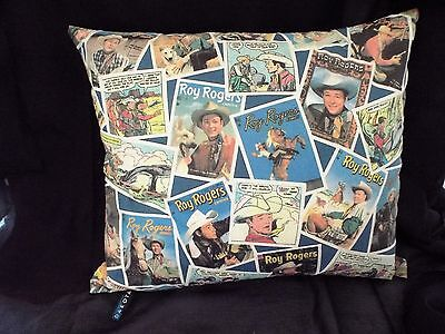 """Vintage 12""""x 14"""" Roy Rogers And Trigger Throw Pillow"""