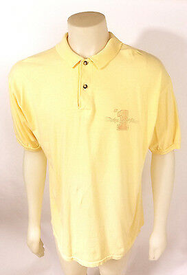 Vintage Rare Dodge Scat Pack (BC Ethic) Men's Polo T-Shirt Yellow Large USA Made