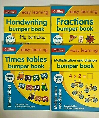 KS1 Collins Easy Learning Pack of 6 Workbooks Ages 5-7 Year New Spelling English