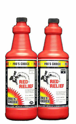 CTI  PRO'S CHOICE RED RELIEF -  A&B qt size -  Red Food/Beverage stain remover
