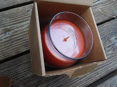 Longaberger basket Scented Candle glass Jar Spiced caramel NIB Wax cream Fall