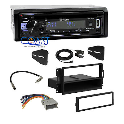 Kenwood Car Stereo Aux Bluetooth Dash Kit Harness For 04-08 Pontiac Grand Prix