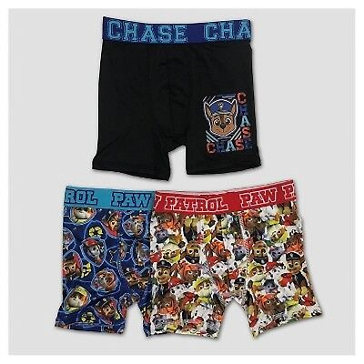 Nickelodeon Paw Patrol 3-Pack Boys Athletic Boxer Briefs Skye Chase Marshall...
