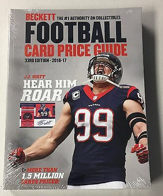 2017 Beckett Football Annual Price Guide - QTY AVAIL - FREE SHIP