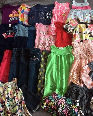 25 Piece Girl Clothes Toddler Lot 5T 4/5 Back To School