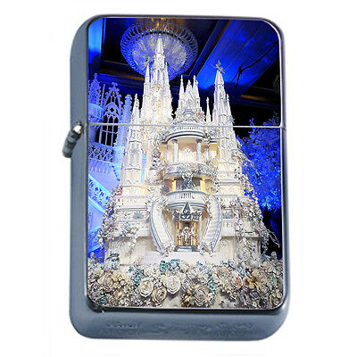 Wedding Cake D4 Windproof Dual Flame Torch Lighter Refillable