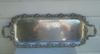 Exceptional Antique Victorian  Sheffield Plate Butlers Drinks Tray 1846 Grams !