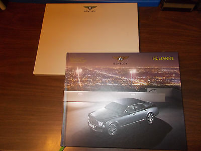 2013 Bentley Mulsanne Hard-Cover 110-page Deluxe Sales Catalog with Slipcase